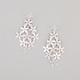 FULL TILT Diamond Dust Flower Chandelier Earrings
