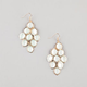 FULL TILT Facet Stone Chandelier Earrings