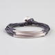 FULL TILT Metal Bar Cord Bracelet