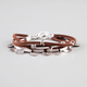 FULL TILT Metal Disc Cord Bracelet