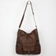 T-SHIRT & JEANS Diagonal Zip Hobo Bag