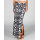 FULL TILT Ethic Print Double Slit Maxi Skirt