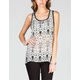 FULL TILT Ethnic Print Womens Hi Low Tank