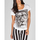 FULL TILT Hipster Lion Womens Tee