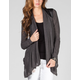 FULL TILT Faux Leather Inset Womens Wrap
