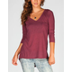 FULL TILT Open Back Womens Pocket Tee