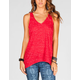FULL TILT Space Dye Womens Keyhole Back Top