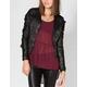 FULL TILT Camo Womens Faux Leather Sleeve Jacket