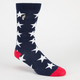 YEA.NICE America Mens Crew Socks