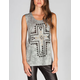 FULL TILT Burnout Ethnic Cross Womens Tunic