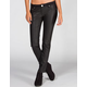 ALMOST FAMOUS Knit/Faux Leather Womens Skinny Pants