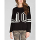 FULL TILT Numbe 10 Womens Varsity Sweater