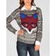 FULL TILT Marled Fox Womens Sweater