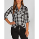 ALI & KRIS Grommet Pocket Womens Shirt