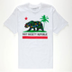 RIOT SOCIETY Tropical Cali Flag Mens T-Shirt
