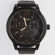 Gold Dial Rubber Band Watch