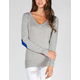 SAY WHAT? Womens Elbow Patch Sweater