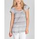 CHLOE K Draped Back Womens Tunic