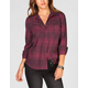 FULL TILT Lace Back Womens Shirt