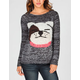 FULL TILT Marled Bulldog Womens Sweater