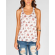 FULL TILT Floral Womens Cross Back Top