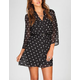 FULL TILT Polka Dot Belted Shirt Dress