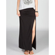 LILY WHITE Ruche Side Maxi Skirt