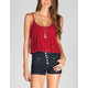 FULL TILT Lace Womens Crop Cami
