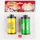 Film Roll Salt + Pepper Shakers