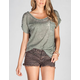 FULL TILT Essential Womens Burnout Pocket Tee