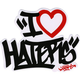 DGK I Love Haters Sticker