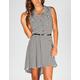 FULL TILT Chevron Stripe Hi Low Shirt Dress