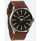 NIXON Luxe Heritage Collection Sentry Leather Watch