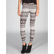 LILY WHITE Ethnic Print Stripe Womens Leggings
