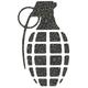 GRENADE Leopard Diecut Sticker