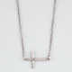 BLUE CROWN Sideways Cross Necklace