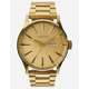 NIXON Sentry SS Gold Watch