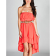 ALI & KRIS Ruffle Hi Low Tube Dress