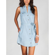 MIMI CHICA Self Tie Chambray Shirt Dress