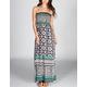 ANGIE Geo Scarf Maxi Dress