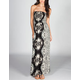 ANGIE Mirror Paisley Scarf Maxi Dress