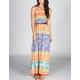 ANGIE Stripe Scarf Maxi Dress