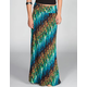 LILY WHITE Bias Print Maxi Skirt