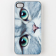 ZERO GRAVITY Meow Face iPhone 4/4S Case