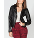JACK BY BB DAKOTA Esteva Womens Faux Leather Moto Jacket