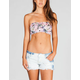 SEE YOU MONDAY Rose Print Cinch Bandeau