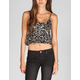 FULL TILT Leopard Print Womens Crop Top