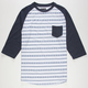 RETROFIT Stitch Stripe Mens Baseball Tee