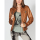 JOU JOU 7 Zip Womens Faux Leather Jacket
