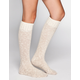 Crochet Top Womens Knee Hi Socks